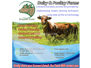 Dairy Farming Poultry Farming Qurbani Animals Compost fertilizer